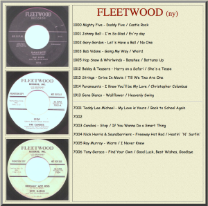 Fleetwood Records' releases, circa 1959