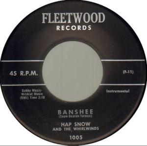Hap Snows Whirlwinds - Banshee and Bottoms Up (1959) Fleetwood Records (1005)