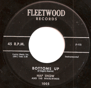 Hap Snow's Whirlwinds - Bottoms Up 1959 Fleetwood Records
