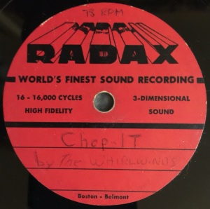 Hap Snow's Whirlwinds - Chop It 1958 RADAX demo