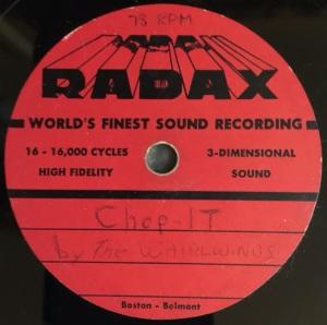 Hap Snow's Whirlwinds - Chop It 1958 RADAX demo
