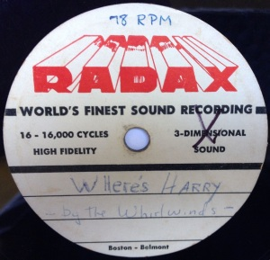 Hap Snow's Whirlwinds - Where's Harry 1958 RADAX demo