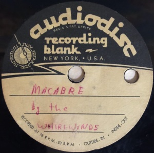 Hap Snow's Whirlwinds - Macabre 1958 Audiodisc demo