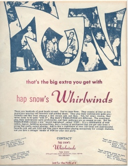"Whirlwinds ""Fun"" handbill, circa 1963 (courtesy of J. Snow)"