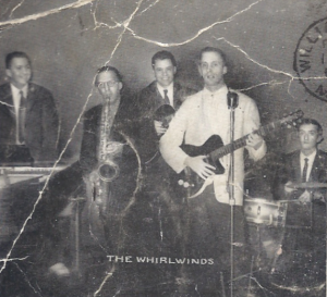 The Whirlwinds: Art Bearon, Harry Lewis, Brad Perry, Hap Snow, and Stefano Torossi in 1958