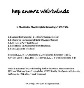 Hap Snow's Whirlwinds - In The Studio: The Complete Recordings 1959-1964 EP back