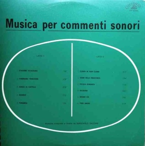 Giancarlo Gazzani - Musica per commenti sonori (1971) Costanza Records (CO 10006) cover