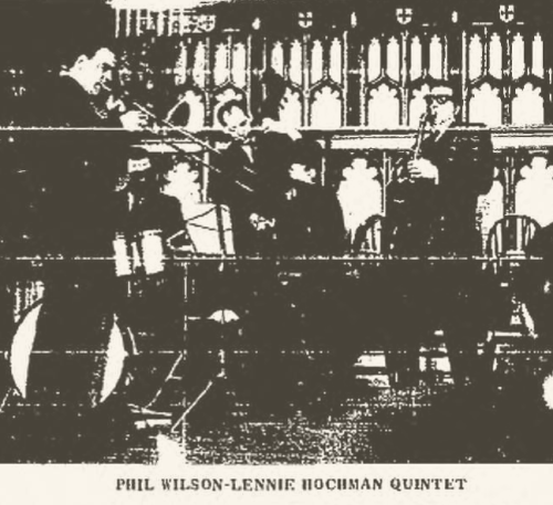 Phil Wilson - Lennie Hochman Quintet in 1968 (Bennington Banner, May 9, 1968 P. 8)