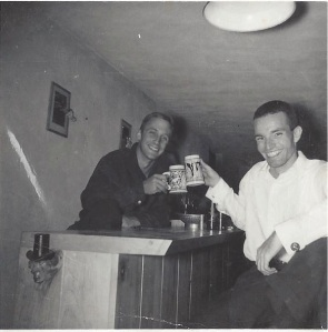 Hap Snow and Ken Roy in Weston, Massachusetts, circa 1964