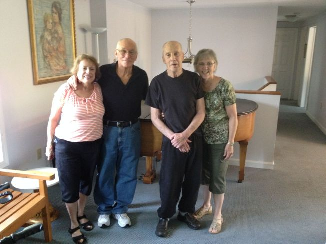 Lynn, Michael, Hap, and Linda at the Kaye residence in Ashland, Massachusets