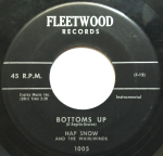 """Hap Snow's Whirlwinds - """"Bottoms Up"""" (1959) Fleetwood Records (1005) [""""Banshee"""" B-side]"""