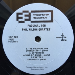 Phil Wilson Quartet - Prodigal Son (1968) Freeform Records label B